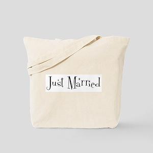 Just Married (sparkle-black) Tote Bag