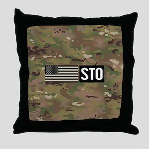 U.S. Air Force: STO (Camo) Throw Pillow