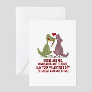 Dinosaurs Valentine's Day Greeting Cards