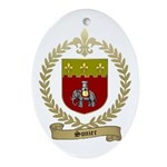 SONIER Family Crest Oval Ornament