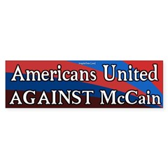 Americans United Against McCain bumpersticker