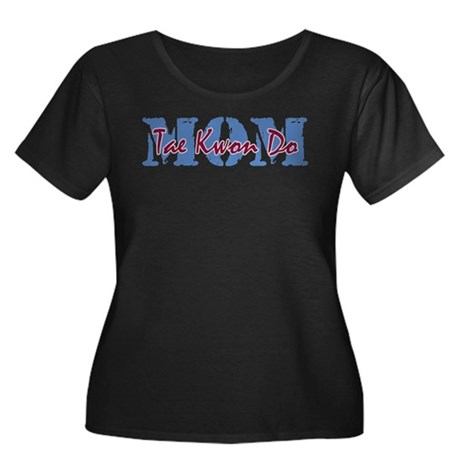 Tae Kwon Do MOM Women's Plus Size Scoop Neck Dark