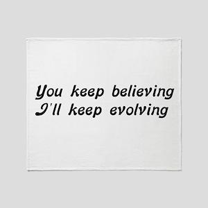 Atheist Statement Throw Blanket