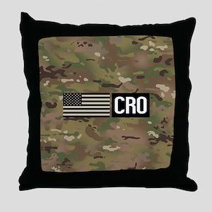 U.S. Air Force: CRO (Camo) Throw Pillow