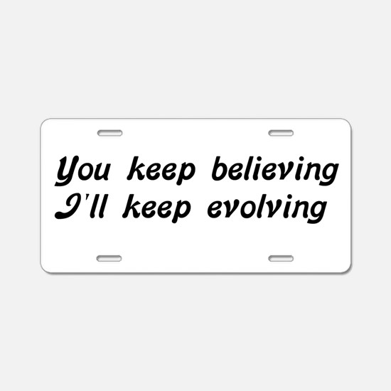 Atheist Statement Aluminum License Plate