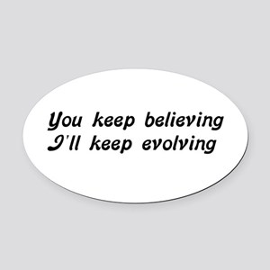 Atheist Statement Oval Car Magnet