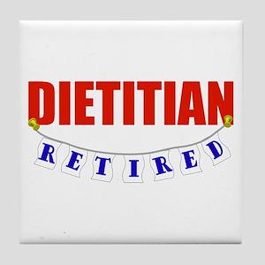 Retired Dietitian Tile Coaster