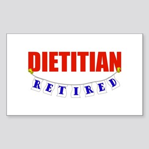 Retired Dietitian Rectangle Sticker
