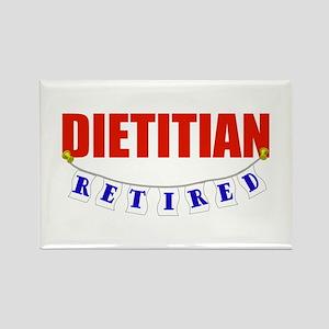 Retired Dietitian Rectangle Magnet