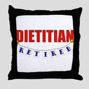 Retired Dietitian Throw Pillow