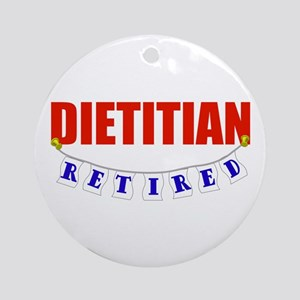 Retired Dietitian Ornament (Round)