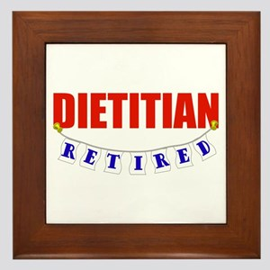 Retired Dietitian Framed Tile