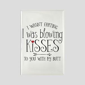Fart Kiss Rectangle Magnet