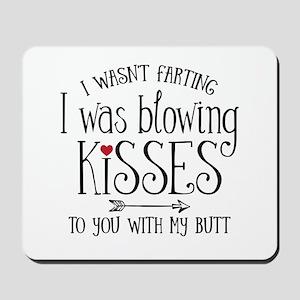 Fart Kiss Mousepad