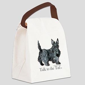 Scottish Terrier Attitude Canvas Lunch Bag