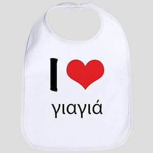 "I ""heart"" Yia Yia Bib"