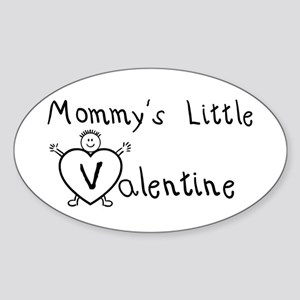 Mommy's Valentine (Boy) Oval Sticker