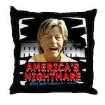 Billary America's Nightmare Throw Pillow