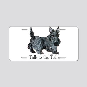 Scottish Terrier Attitude Aluminum License Plate