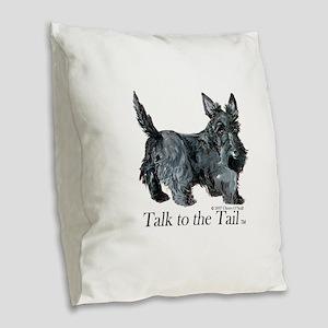 Scottish Terrier Attitude Burlap Throw Pillow