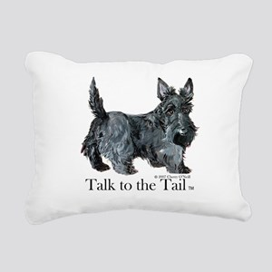 Scottish Terrier Attitude Rectangular Canvas Pillo