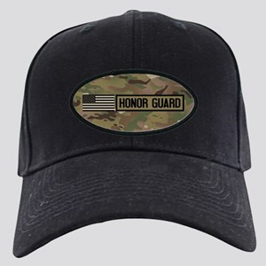 Military: Honor Guard (Camo) Black Cap with Patch