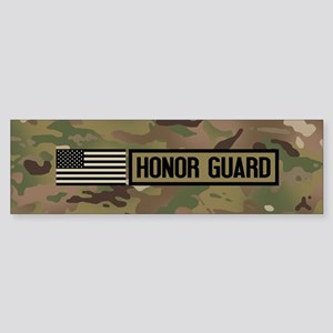 Military: Honor Guard (Camo) Sticker (Bumper)