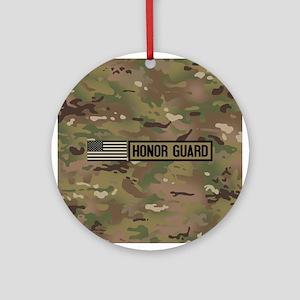 Military: Honor Guard (Camo) Round Ornament