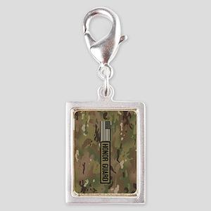 Military: Honor Guard (Camo) Silver Portrait Charm