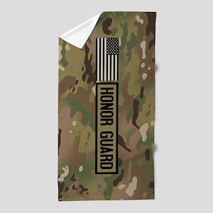 Military: Honor Guard (Camo) Beach Towel