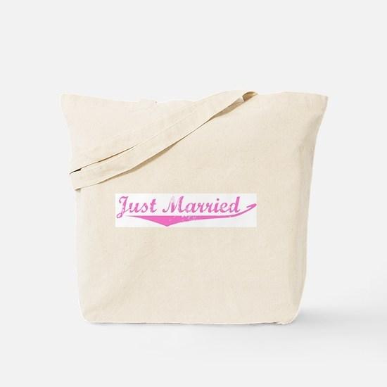 Just Married (vintage-pink) Tote Bag