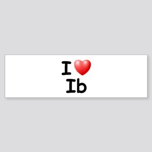 I Love Ib (Black) Bumper Sticker