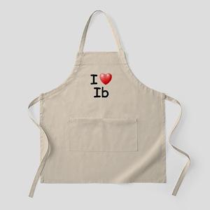 I Love Ib (Black) BBQ Apron