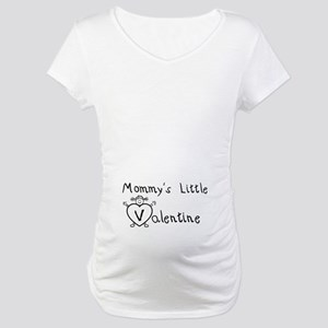 Mommy's Valentine (girl) Maternity T-Shirt