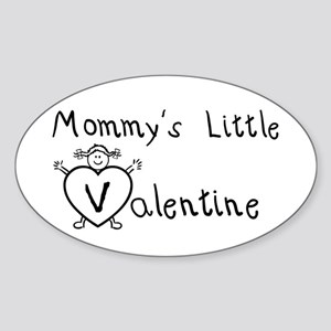 Mommy's Valentine (girl) Oval Sticker