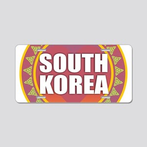 South Korea Heart Sun Aluminum License Plate