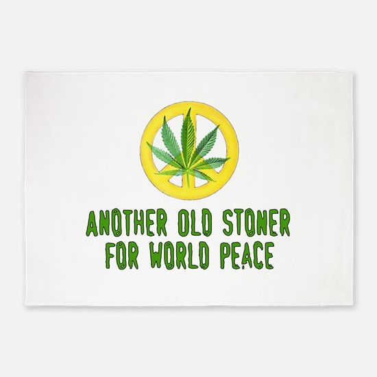 Another Old Stoner For World Peace 5'x7'Area Rug