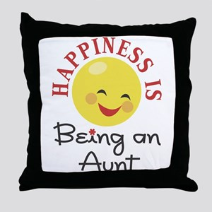 Happiness Is Being An Aunt Throw Pillow