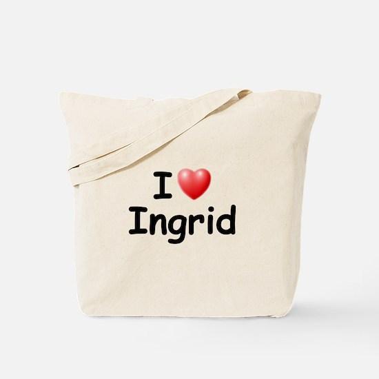 I Love Ingrid (Black) Tote Bag