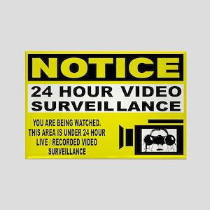 24 Hour Surveillance Rectangle Magnet