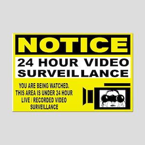 24 Hour Surveillance Mini Poster Print