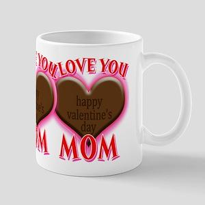 I Love You Mom Happy Valentine's Mugs