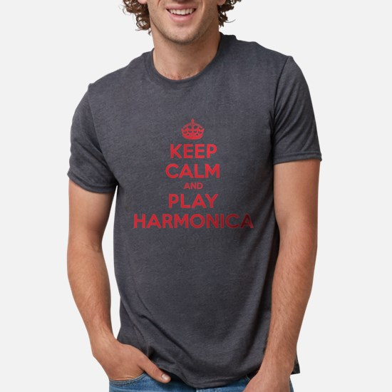 Keep Calm Play Harmonica T-Shirt