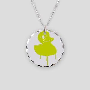 Rubber Duck Graffiti Art Duc Necklace Circle Charm