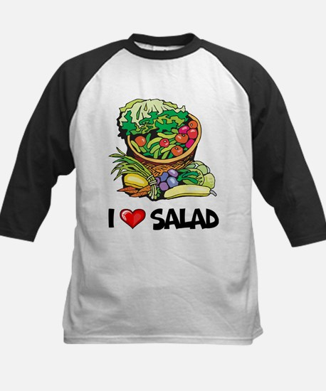 I Love Salad Kids Baseball Jersey