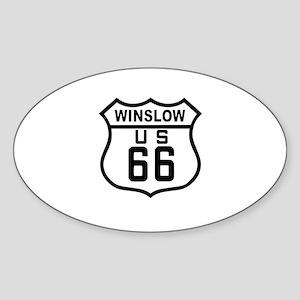 Winslow, Arizona Route 66 Oval Sticker