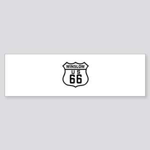 Winslow, Arizona Route 66 Bumper Sticker