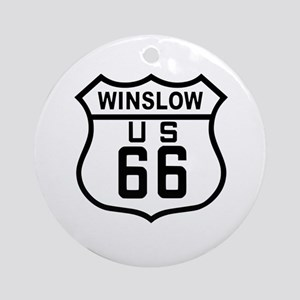 Winslow, Arizona Route 66 Ornament (Round)