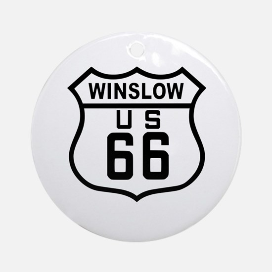 Winslow, Arizona Route 66 Ornament (Round)