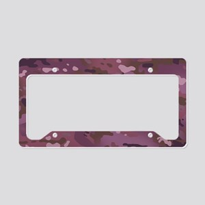 Camouflage: Pink & Purple License Plate Holder
